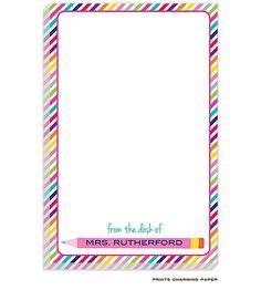 Pink Pencil Notepad | Paperworkshop