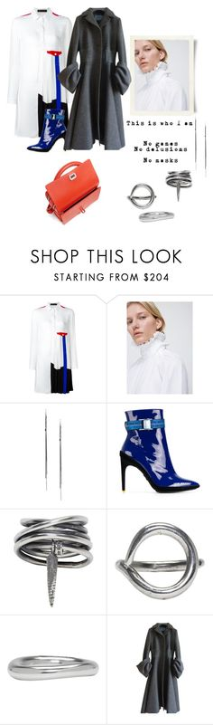 """""""no games"""" by gabrielleleroy ❤ liked on Polyvore featuring Versace, Ann Demeulemeester, Off-White, Prada and Carven"""