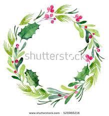 Afbeeldingsresultaat Voor Watercolor Christmas Wreath