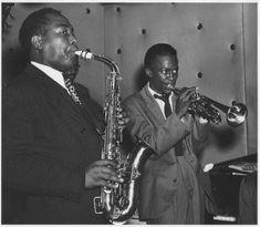 Charlie Parker and Miles Davis