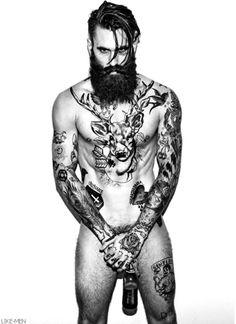 Ricki Hall ~ that beard & those tats! I Love Beards, Beard Love, Beard Style, Hairy Men, Bearded Men, Men Beard, Bart Tattoo, Gorgeous Men, Beautiful People