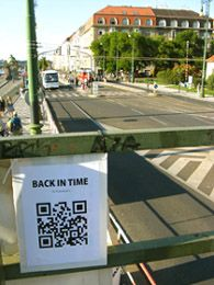 Read a QR code and see how the particular place looked like many years ago.