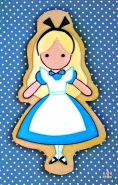 Shortbread Cookie Recipe {& Alice in Wonderland Cookies} - Miller is Home Fancy Cookies, Cute Cookies, Cupcake Cookies, Sugar Cookies, Cupcakes, Shortbread Recipes, Shortbread Cookies, Cookie Recipes, Cookie Ideas