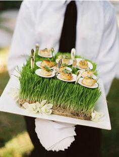 Unique serving idea for the cocktail party.