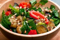 Zucchini Salad with Pine Nuts recipe | Not Greek, exactly, but it *could* be ....