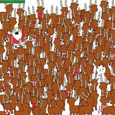 Unartista esconde ensus ilustraciones objetos tan simpáticos que esimposible noencontrarlos Illustration Mignonne, Illustration Noel, Illustration Animals, Christmas Puzzle, Christmas Games, Christmas Quiz, Christmas Activities, Halloween Puzzles, Wheres Waldo
