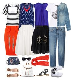 """""""nautical travel wardrobe"""" by fly2010 on Polyvore featuring Karen Millen, Forever New, H&M, Charlotte Russe, Topshop, Mercy Delta, MANGO, Chicwish, Uniqlo and Current/Elliott"""