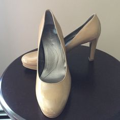 Great condition nude Tahari pumps 6.5 Only worn a handful of times great condition nude Tahari heels size 6.5 small red mark on front of left shoe see picture barely noticeable Tahari Shoes Heels