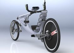 Solar powered recumbent bicycle, R. Recumbent Bicycle, Motorized Bicycle, Electric Bicycle, Electric Cars, Cool Bicycles, Cool Bikes, Tricycle, E Mobility, Power Bike