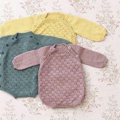 Sommerfuglromper i 3 nye farger i Babyull Lanett // Butterfly baby romper in 3 new colours in Babyull Lanett (baby wool)