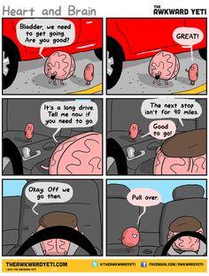 Heart and Brain comics, hahahaha