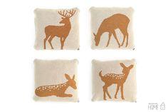 Knit Deer Pillow by kokokoshop on Etsy, $40.00