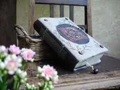 """Купить """"Цветы для Наташи"""" текстильная обложка - цветы, лето, весна, бохо, книга, Тишина, лен"""