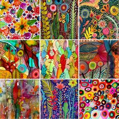 Sylvie Demers by Folt Bolt - the colorful art palette