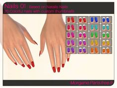 Accessories: Nails 01 by MorganeParis from The Sims Resource Sims 4 Nails, Cc Nails, Coffin Nails, Sims 4 Cc Skin, Sims Cc, Maxis, Chokers For Kids, Sims 4 Cc Kids Clothing, Sims 4 Cc Shoes