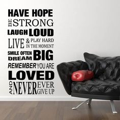 Have Hope Be Strong Quote Wall Stickers / Wall Decals