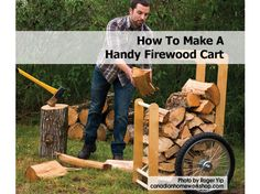Image result for wood cart firewood
