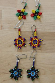 Design inspired by traditional native American jewelry earrings. Closures (no risk of allergies) surgical steel. Seed beads, I offer several colors suitable for everyone. Possibility to make custom with the design of your choice (about a week delay). Beaded Earrings Patterns, Diy Earrings, Beading Patterns, Diy Jewelry To Sell, Diy Jewelry Making, Native American Fashion, Native American Jewelry, Beaded Ornaments, Beading Tutorials