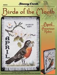 Αποτέλεσμα εικόνας για bird a month cross stitch