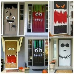 HALLOWEEN DIY scary door ideas to do with the kids