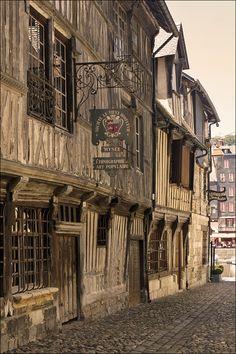 """""""Rue de la Prison in Honfleur"""" by Foto Martien on Flickr - Rue de la Prison, Honfleur, France...This street hasn't changed in 500 years."""