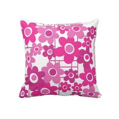 1960s MOD Flower Child III Pillow