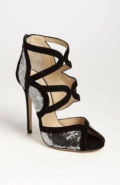 Jimmy Choo  Tempest  Sequin Sandal  3  JimmyChoo Scarpe Folli 636cfbd8aad