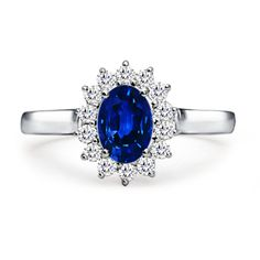 Angara Vintage Oval Solitaire Blue Sapphire Ring in Yellow Gold 7DJbBPPBhd