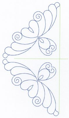 Free Continuous Machine Quilting Designs | Feather Quilting Design Set 6