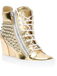 Giuseppe Zanotti Design Studded Wedge Sneaker