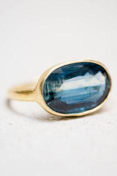 gorgeous blue kyanite ring // pippa small