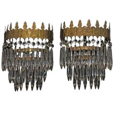 1stdibs - Antique Pair Of French 1930  Cristal Sconces explore items from 1,700  global dealers at 1stdibs.com