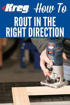 How To Rout in the Right Direction | Learn how to use a router safely and get great results with a simple tip that ensures you're always moving the router in the right direction.