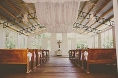 Jessica and Matt's Chapel Wedding at Cross Creek Ranch...Real Wedding: Open Air Chapel Wedding