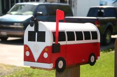 Shop for volkswagen on Etsy, the place to express your creativity through the buying and selling of handmade and vintage goods. Diy Mailbox, Mailbox Ideas, Mailbox Makeover, Volkswagen T1, Vw Bus, Unique Mailboxes, You Have Mail, You've Got Mail, Trucks And Girls