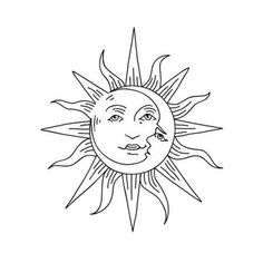 Tattify Sun And Moon Temporary Tattoo - Sol Y Luna (Set of 2)