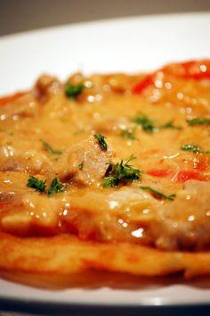 """Kuchnia Bazylii: Placki ziemniaczane z sosem """"karkówkowym"""""""