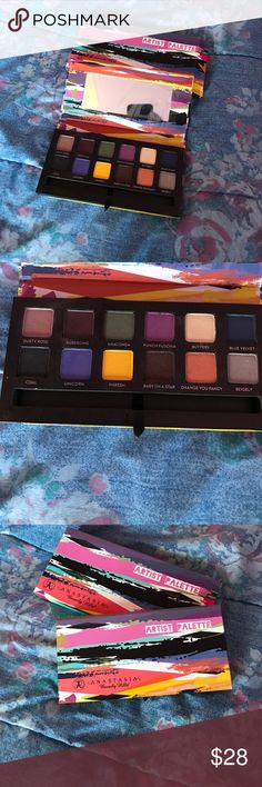 Artist palette By Anastasia Beverly Hills Never used, Lightly touched. reason for selling ? Sitting in my makeup drawer. Colors don't match me Anastasia Beverly Hills Makeup Eyeshadow