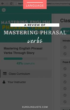 Mastering Phrasal Verbs with Lindsay Dow Review
