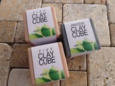 Clay soaps with Argan Oil Argan Oil, Geraniums, Bar Soap, Soaps, Cube, Mint, Skin Care, Handmade, Home Made Soap