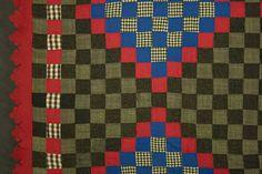 Mennonite Philadelphia Pavement Quilt: Ca.1880; Pa.