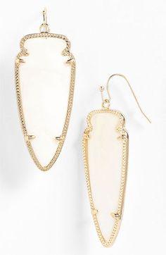 Kendra Scott 'Skylar Spear' Statement Earrings   Nordstrom in White Mother of Pearl