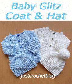 Free Crochet Patterns - justcrochetblog Crochet Baby Cardigan Free Pattern, Boy Crochet Patterns, Baby Sweater Patterns, Baby Clothes Patterns, Free Crochet, Crochet Hooks, Cardigan Pattern, Crochet Cardigan, Crochet Baby Clothes Boy