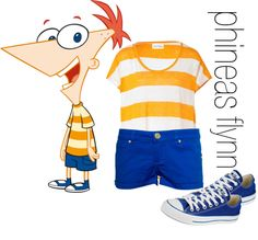 """""""phineas, phineas and ferb"""" by simmaaay ❤ liked on Polyvore"""
