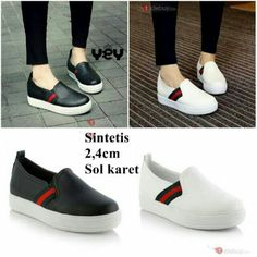 Slip on shoes with gucci tape
