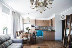 Надежный, красивый, теплый деревянный кухонный стол. | Colors.life