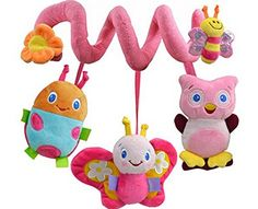 Spiral Activity Toy Hanging Baby Rattle Toys for Crib Stroller Spiral Butterfly -- Check this awesome product by going to the link at the image.
