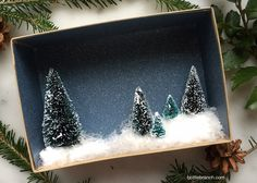 bottle brush trees in vintage silver vignettes Family Christmas, Christmas Crafts, Advent Wreath, Bottle Brush Trees, Vintage Silver, Vignettes, Etsy Store, Crafts For Kids, Fun