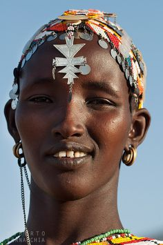 Beautiful Samburu woman, Kenya