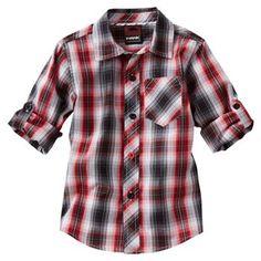 Red/black plaid shirt for boy 1